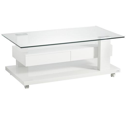 COUCHTISCH rechteckig Weiß  - Weiß, Design, Glas/Metall (115/65/45cm) - Ti`me