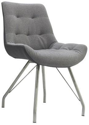 STOL - grå/rostfritt stål-färgad, Design, metall/textil (55,5/83/62,5cm) - Hom`in