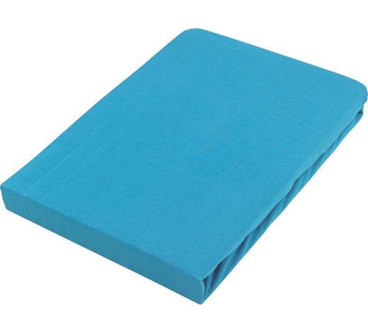PROSTĚRADLO NAPÍNACÍ, žerzej, 140/200 cm - petrolej, Basics, textil (140/200cm) - Boxxx