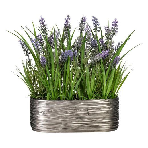 KUNSTBLUME Lavendel - Lila/Grün, Kunststoff (35cm)