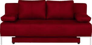 SCHLAFSOFA in Textil Rot  - Chromfarben/Rot, Design, Textil/Metall (193/85/89cm) - Carryhome