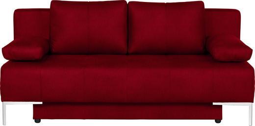SCHLAFSOFA Rot - Chromfarben/Rot, Design, Textil/Metall (193/85/89cm) - Carryhome