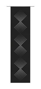 PANELNA ZAVESA RIVANA, ČRNA - črna, Basics, tekstil (60/245cm) - Venda