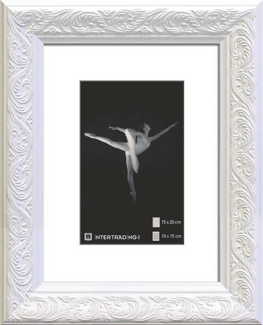 BILDERRAHMEN  Weiß - Weiß, Basics, Glas/Holz (25/20cm)