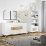 REGAL  80/180/40 cm Weiß, Eichefarben  - Eichefarben/Weiß, Design, Holz/Holzwerkstoff (80/180/40cm) - Xora