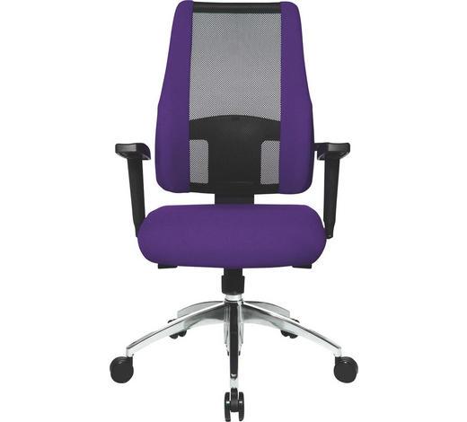 DREHSTUHL Schwarz, Violett  - Violett/Schwarz, Design, Kunststoff/Textil (50/83-95/46cm)