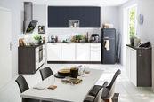 KUHINJSKI BLOK BREZ APARATOV sistem za mehko in tiho zapiranje   - bela/antracit, Romantika, leseni material (150/225 + 90cm) - Welnova
