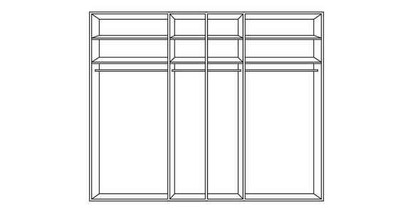 SCHWEBETÜRENSCHRANK in Hellbraun, Lärchefarben  - Hellbraun/Chromfarben, Design, Glas/Holzwerkstoff (250/217/67cm) - Dieter Knoll