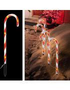 LED-Dekoleuchten Set 3 tlg.   - Rot/Weiß, Basics, Kunststoff (250/44cm) - X-Mas