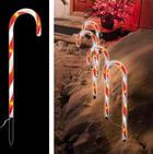LED-Dekoleuchten Set 3 tlg. - Rot/Weiß, Basics, Kunststoff (250/44cm)