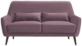 DREISITZER-SOFA in Textil Altrosa  - Schwarz/Altrosa, Trend, Holz/Textil (160/86/80cm) - Carryhome