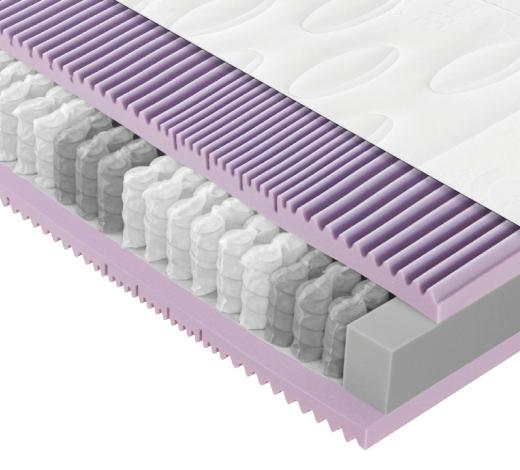 TASCHENFEDERKERNMATRATZE - Weiß, Basics, Textil (90/200cm) - Novel