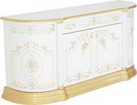 SIDEBOARD - Goldfarben/Weiß, LIFESTYLE, Holzwerkstoff/Kunststoff (186/87/54cm) - Cantus