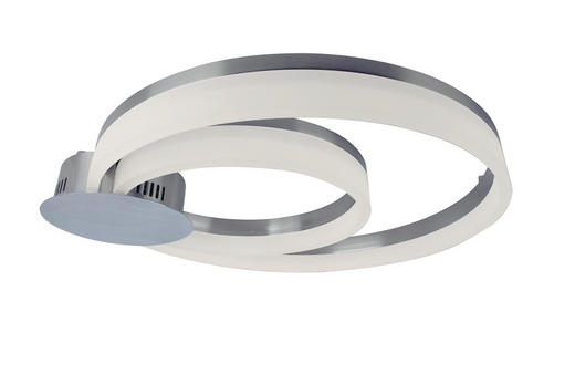 LED-DECKENLEUCHTE - Chromfarben/Nickelfarben, Design, Metall (61/6,5/55cm)