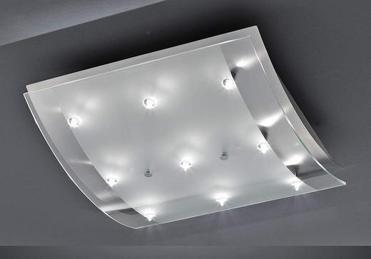 DECKENLEUCHTE - KONVENTIONELL, Glas/Metall (36/35/10.5cm)