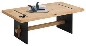 COUCHTISCH in Holz, Metall 110/60/40 cm   - Eichefarben/Schwarz, Design, Holz/Metall (110/60/40cm) - Hom`in