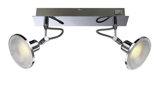 LED-STRAHLER - Chromfarben, MODERN, Kunststoff/Metall (30/14/15cm)