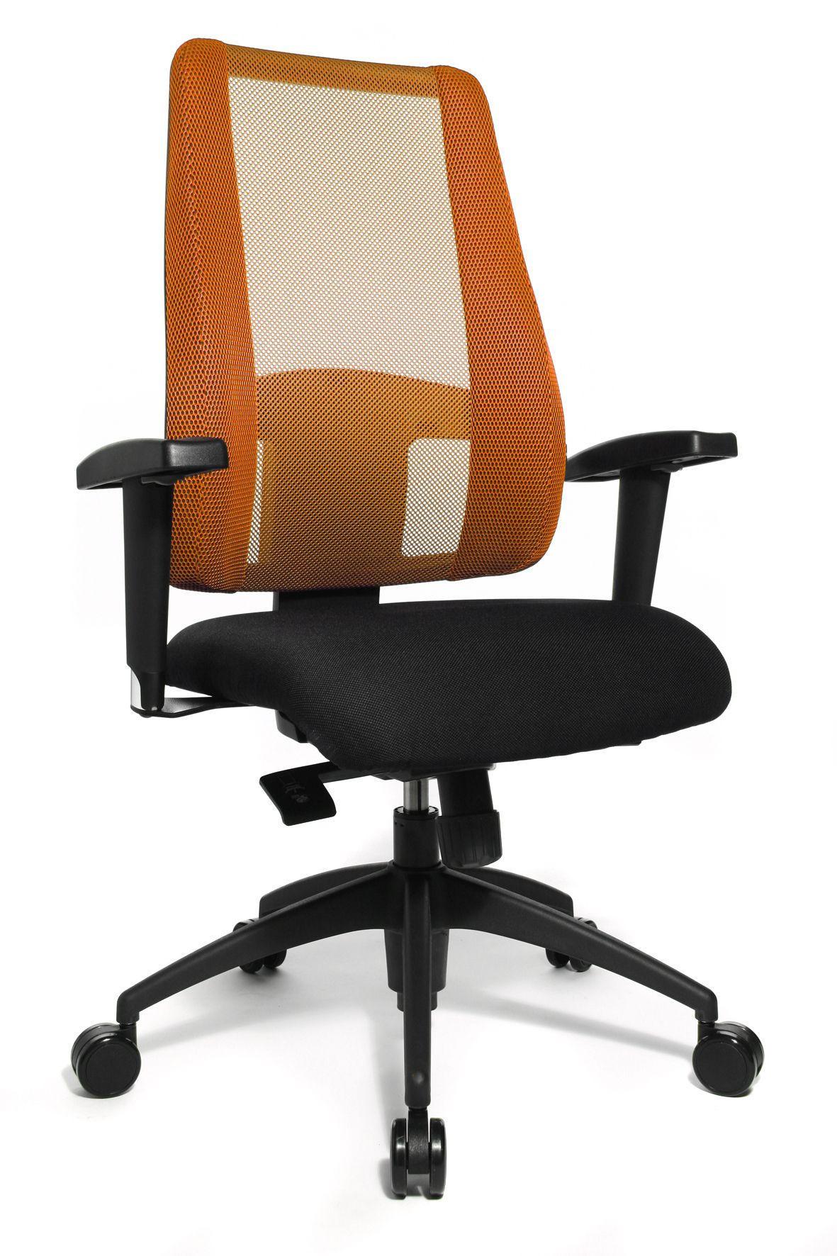 DREHSTUHL Orange, Schwarz - Schwarz/Orange, Basics, Kunststoff/Textil