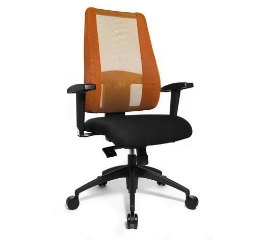 DREHSTUHL - Schwarz/Orange, Basics, Kunststoff/Textil