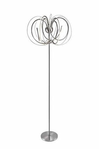 LED-STEHLEUCHTE - MODERN, Kunststoff/Metall (25/167cm)