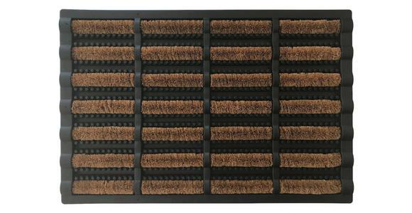 FUßMATTE 40/60 cm  - Schwarz/Braun, Basics, Kunststoff/Textil (40/60cm) - Esposa