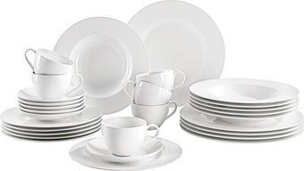 KOMBISERVICE 30-teilig  Twist White - Weiß, Basics, Keramik - VILLEROY & BOCH
