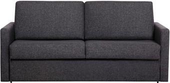 BÄDDSOFFA - svart/antracit, Klassisk, trä/textil (185/85/98cm)