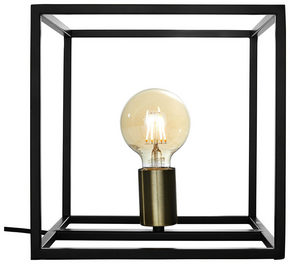 BORDSLAMPA - svart, Design, metall (25/25/25cm) - Marama