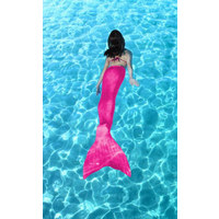 MEERJUNGFRAUENFLOSSE Pink - Pink, Trend, Kunststoff (108cm)