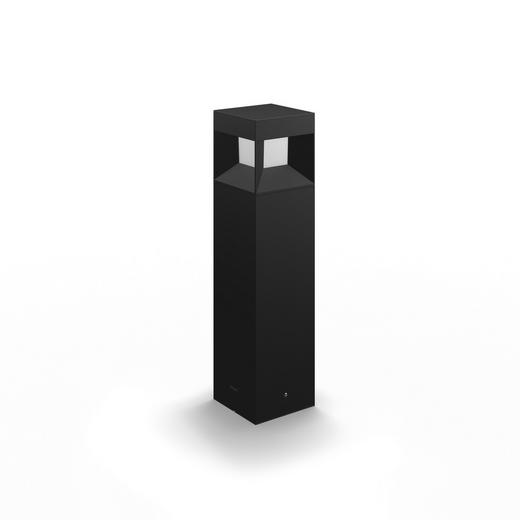 MYGARDEN LED-WEGELEUCHTE Schwarz - Schwarz, Design, Kunststoff/Metall (10/40/10cm) - Philips