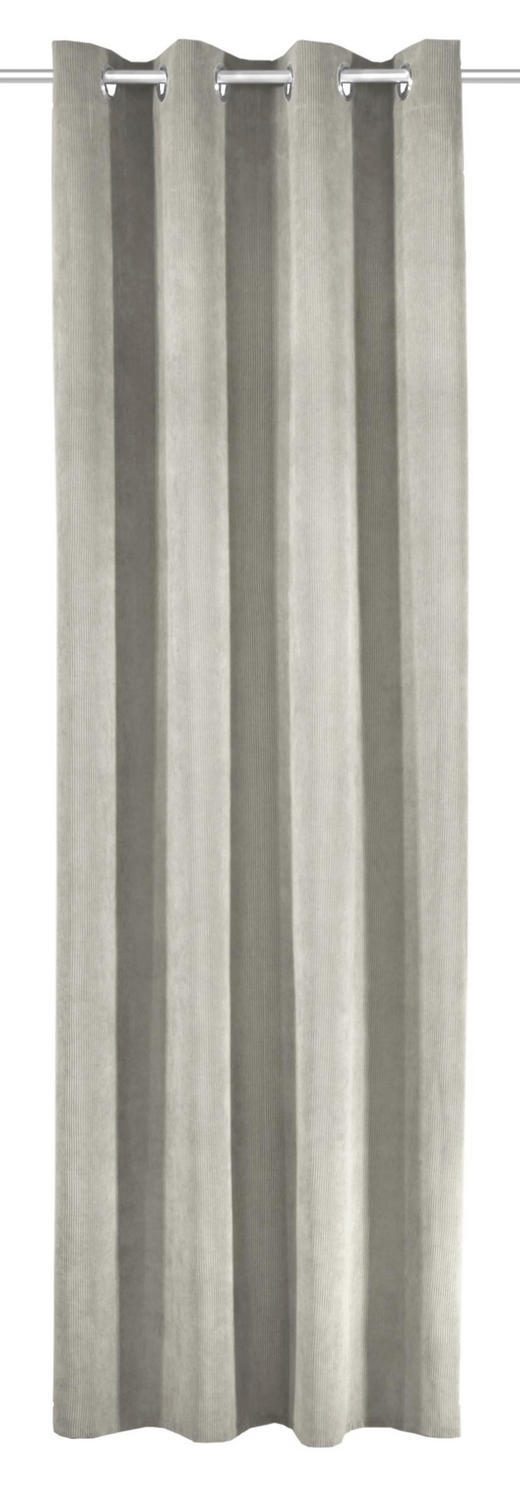 ÖSENSCHAL  Verdunkelung  135/245 cm - Silberfarben, Textil (135/245cm)