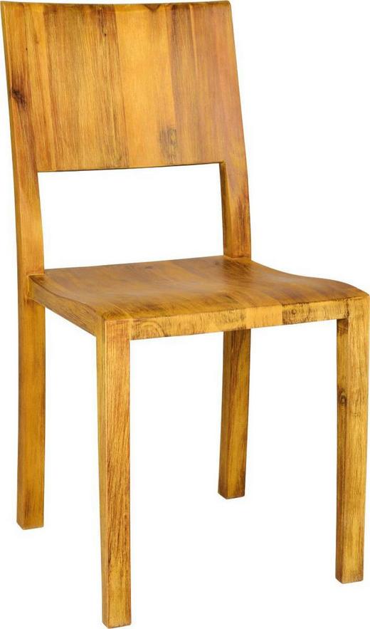STUHL Akazie massiv Akaziefarben - Akaziefarben, Design, Holz (45/90/58cm) - Carryhome