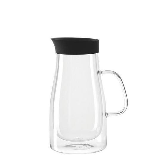 KAFFEEKANNE - Transparent/Schwarz, Design, Glas/Kunststoff (16,20/23,40/12,20cm) - Leonardo