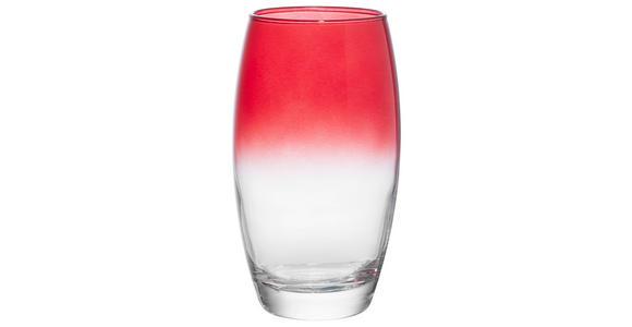 LONGDRINKGLAS 510 ml  - Klar/Rot, Trend, Glas (6,6cm) - Homeware