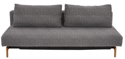 SCHLAFSOFA Grau - Eichefarben/Grau, Design, Holz/Textil (200/65/93cm)