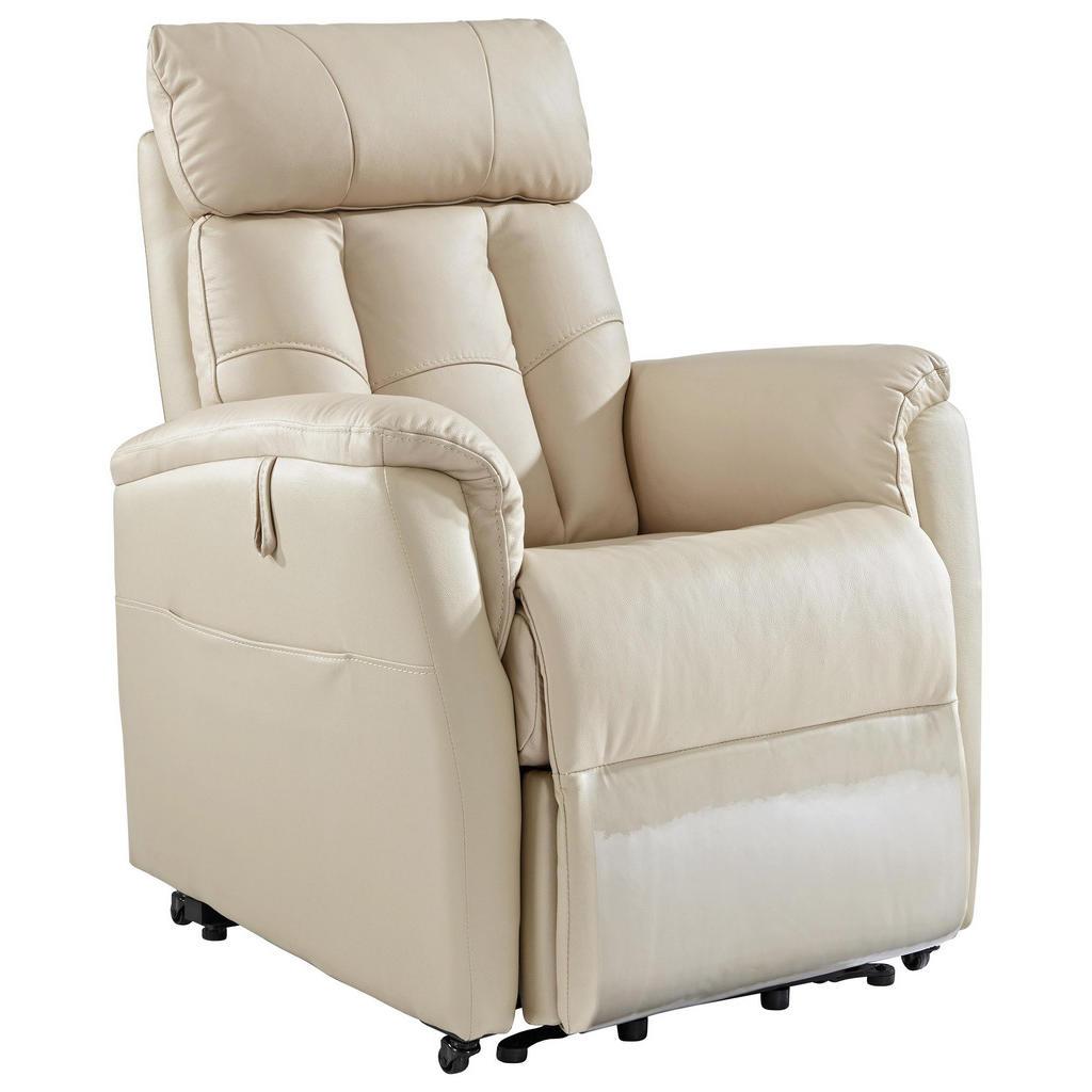 Cantus FERNSEHSESSEL Kombination Echtleder/Lederlook Lederlook Beige | Wohnzimmer > Sessel > Fernsehsessel | Textil | Cantus