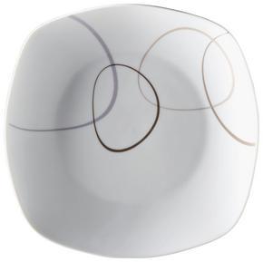 MATTALLRIK - vit/brun, Basics, keramik (26/26/2cm) - Ritzenhoff Breker