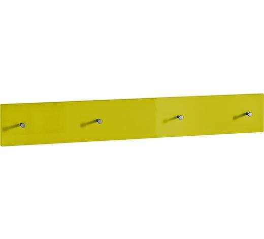 GARDEROBENLEISTE - Gelb, Design, Holzwerkstoff (106/15/5cm) - Xora