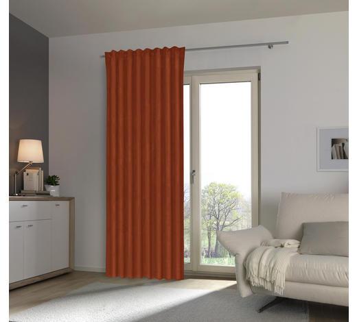 FERTIGVORHANG blickdicht - Terra cotta, KONVENTIONELL, Textil (135/255cm) - Esposa