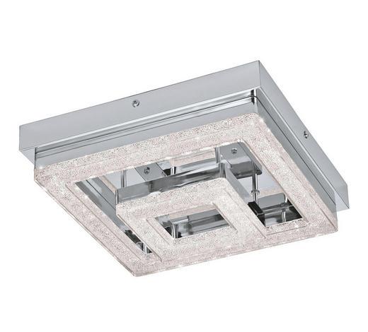 LED-DECKENLEUCHTE - Chromfarben/Klar, Design, Kunststoff/Metall (26/26/8,5cm) - Novel