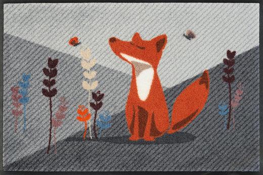 FUßMATTE 50/75 cm Tier Grau, Multicolor - Multicolor/Grau, Basics, Kunststoff/Textil (50/75cm) - Esposa
