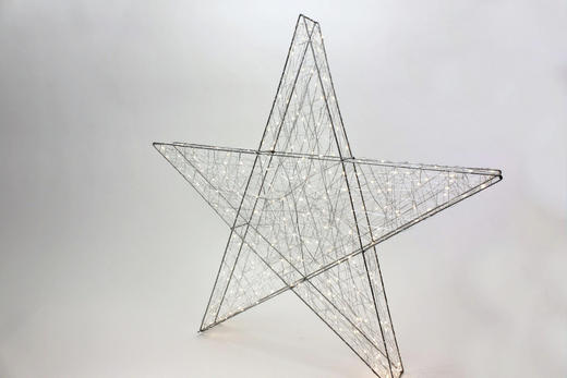 DEKOSTERN  Silberfarben - Silberfarben, Basics, Metall (78cm)