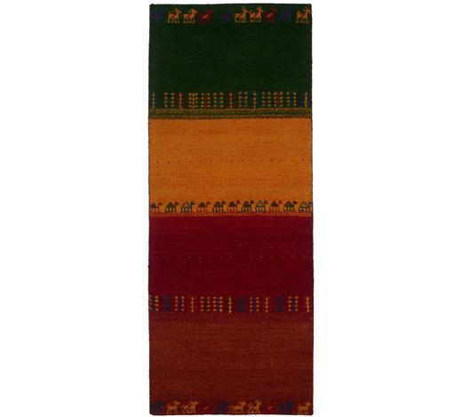 KOBEREC ORIENTÁLNÍ, 80/200 cm, žlutá, zelená, červená, terra cotta - zelená/žlutá, Design, textil (80/200cm) - Esposa