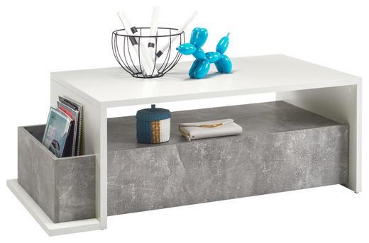 COUCHTISCH rechteckig Hellgrau, Weiß - Hellgrau/Weiß, Design (110/60/41cm) - Carryhome