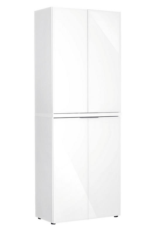 TÜRENSET Weiß - Alufarben/Weiß, Design, Metall (80/104cm)