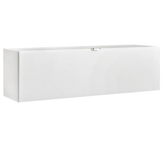 HÄNGEELEMENT Weiß  - Edelstahlfarben/Weiß, Design, Glas/Metall (109,7/32,4/28,9cm) - Hom`in