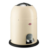 ABFALLSAMMLER SINGLE MASTER 9 L  - Edelstahlfarben/Creme, Kunststoff/Metall (30/40cm) - Wesco