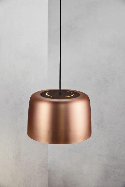 HÄNGELEUCHTE - Kupferfarben, LIFESTYLE, Holz/Metall (31/20cm)