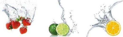 Essen & Trinken, Obst WANDTATTOO - Multicolor, Basics, Kunststoff (30/30cm) - Eurographics