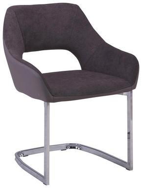 SVIKTSTOL - brun/kromfärg, Design, metall/textil (59/79/60cm) - Ti`me